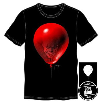 It Mens Red Balloon Black T-Shirt