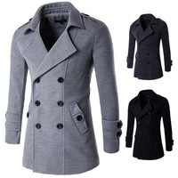 Autumn and winter men's casual coat color