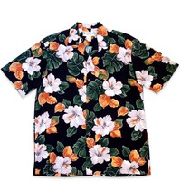 Hoopla Black Hawaiian Rayon Shirt