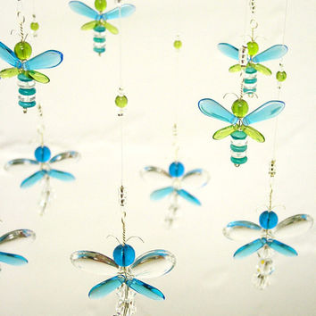 Nursery Idea Crystal Baby Mobile Swarovski Crystal Suncatcher Blue Dragonfly Mobile Firefly Baby Boy Mobile Nursery Decor Baby Shower Gift