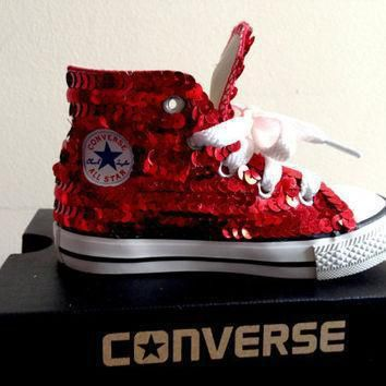 children s red sequined converse