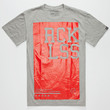 Young & Reckless Block Logic Mens T-Shirt Heather  In Sizes
