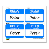 Peter Hello My Name Is - Sheet of 4 Stickers