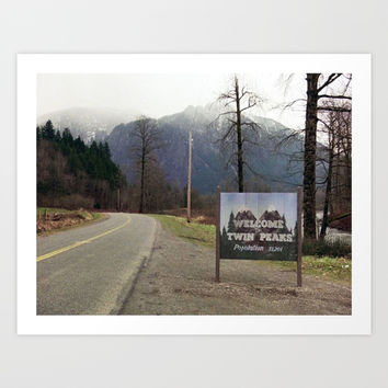Welcome to Twin Peaks Art Print by cutie_patootie