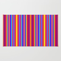 colorful stripes Rug by 2sweet4words Designs