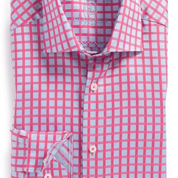 Bugatchi Trim Fit Check Dress Shirt,