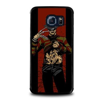 freddy krueger 1 samsung galaxy s6 edge case cover  number 1