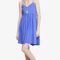 BLUE STRAPPY TRAPEZE BABYDOLL DRESS from EXPRESS