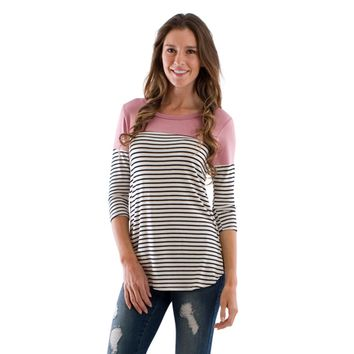 Striped Contrast Go-To Top