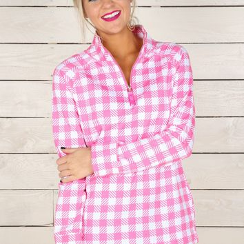In Good Shape Pullover-Pink