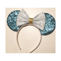 Cinderella Mickey Ears, Cinderella Minnie Ears, Cinderella Ears, Blue Mickey Ears, Disney Princess, Cinderella, Inspired Ears,