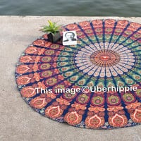 Mandala Round / Tapestry , Wall Hanging , Beach Throw , Living Room Decor