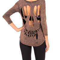 Grunge X-Ray Mid-Sleeve Top - 2020AVE