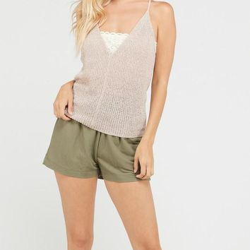Open Back Tank Top - Oatmeal