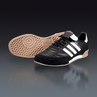 adidas Mundial Goal - Black/White Indoor Soccer Shoes