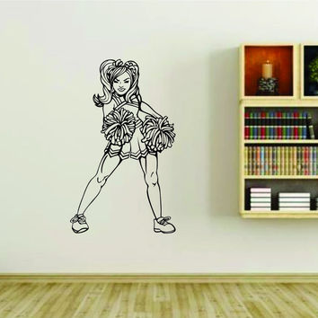 Cheerleader Cheerleaders Cheer Version 103 Vinyl Wall Decal Sticker