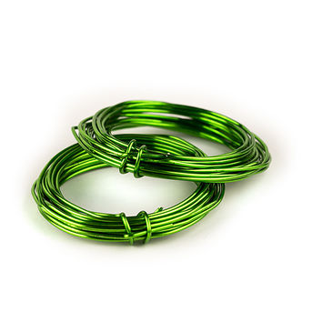 Aluminum Florist Wire, Assorted Colors, 12 Gauge, 5 Yds, 2 Pack (Lime)