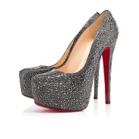 DAFFODILE STRASS 160 mm, Strass, HEMATITE, Women Shoes.