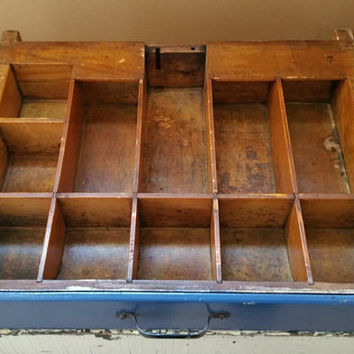 Vintage Wood Cash Drawer Wooden Register Till