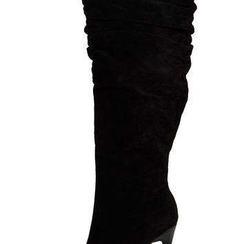 Nicky Knee High Boot (Black)- FINAL SALE