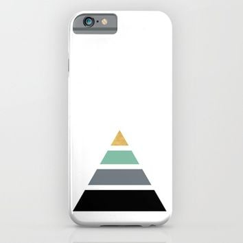 DIVIDED PYRAMID TRIANGLE WIT GOLDEN CAPSTONE iPhone & iPod Case by deificus Art