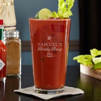 Engraved Bloody Mary Brunch Cocktail Glass