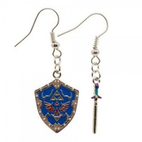 The Legend of Zelda Sword & Shield Earrings