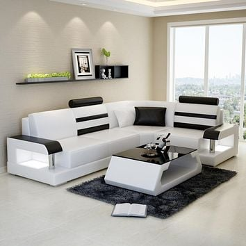 L- Shaped Sectional Leather Sofa Howard Set