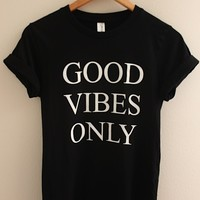 Good Vibes Only Black Graphic Top