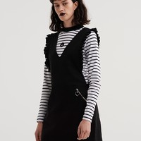 Lazy Oaf Deep V Frilly Pinny Dress - View all - New In - Womens