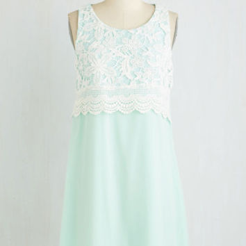 Pastel Mid-length Sleeveless Shift Candy Dish the Deets Dress by ModCloth