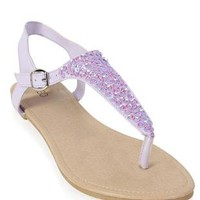sequin top thong sandal - debshops.com