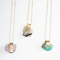 Beklina : Mineral Necklaces $95.