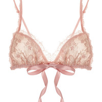 Hanky Panky - Gilded floral-lace soft-cup triangle bra