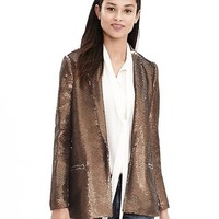 Banana Republic Womens Monogram onze Sequin Blazer