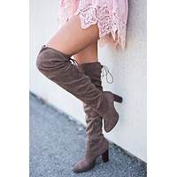 City Classic Thigh High Boot (Light Brown)
