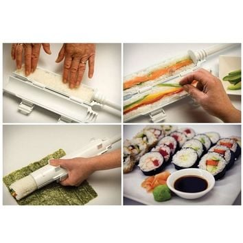 Roller Sushi maker Roll Mold Making Kit Sushi Bazooka Rice Meat Vegetables DIY Making Kitchen Tools Gadgets Accessories