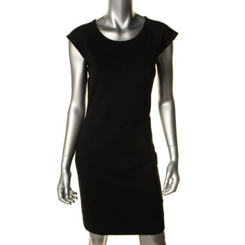 French Connection Womens Lace Back Knee-Length Cocktail Dress