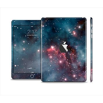 The Bright Pink Nebula Space Full Body Skin Set for the Apple iPad Mini 2