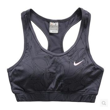 NIKE Casual Gym Sport Yoga Embroidery Print Vest Tank Top Cami-2