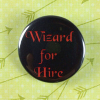 """Wizard for Hire 1.25"""" Pin"""