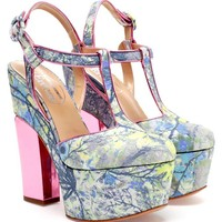 NICHOLAS KIRKWOOD | Floral Brocade Platform Pumps | Browns fashion & designer clothes & clothing