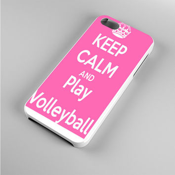 Keep Calm Play On Volleyball Pink Iphone 5s Case