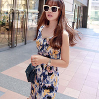 Multicolored Sleeveless Sheath Dress - Miamasvin loves u! Womens Clothing. Korean Fashion.