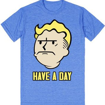 Have A Day Fallout 4 Vault Boy Shirt in Color