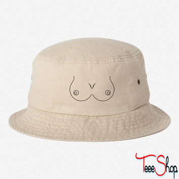 Boobs Outline Costume bucket hat