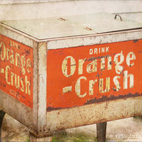 Orange Crush Photo   Vintage Pop Machine  8 x by PhotographybyTess