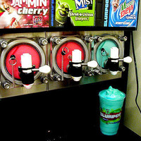 blue, drink, fashion, mountain dew, slurpee - inspiring picture on Favim.com