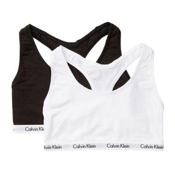 DCCKHB3 Calvin Klein | Scoop Neck Racerback Bralette - Pack of 2