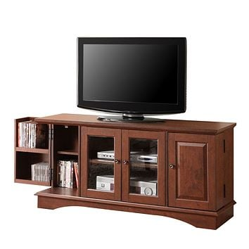 """52"""" Brown Wood TV Stand Console"""